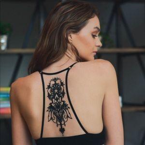 Other - Tattoo Mesh Racerback Bralette
